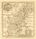 Antique map of Northamptonshire by Emmanuel Bowen, 1760